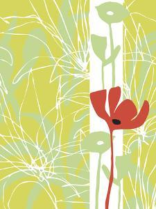 Poppy Skies I by Callie Crosby and Rebecca Daw