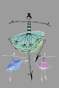 Pretty Ballerinas I by Callie Crosby and Rebecca Daw
