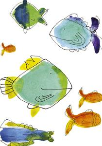 Rainbow Fish I by Callie Crosby and Rebecca Daw
