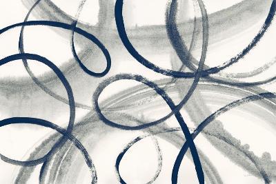 Calligraphia with Navy-Sue Schlabach-Art Print