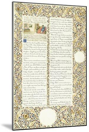 Calligraphic and Illuminated Manuscript, C.1871-1873 (Inks and Paint on Paper)-William Morris-Mounted Giclee Print