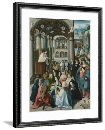 Calling of Saint Anthony-Aertgen Claesz van Leyden-Framed Art Print