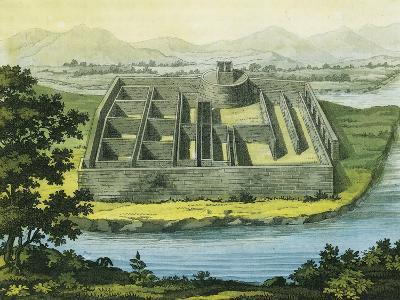 "Callo Palace from Giulio Ferrario's Work, ""South America"", 1827--Giclee Print"