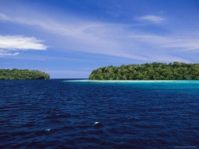 Calm Blue Waters Between Two Tropical Islands-Wolcott Henry-Photographic Print