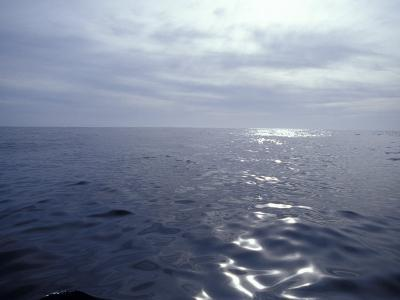 Calm Ocean with Small Ripples Reflects a Sunbeam Off the Surface, Australia-Jason Edwards-Photographic Print