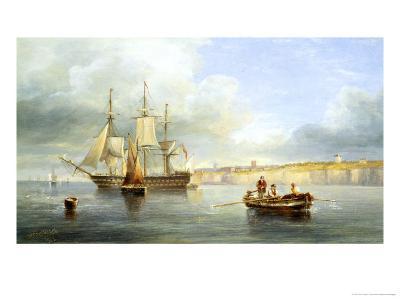 Calm Sea-John Wilson Carmichael-Giclee Print