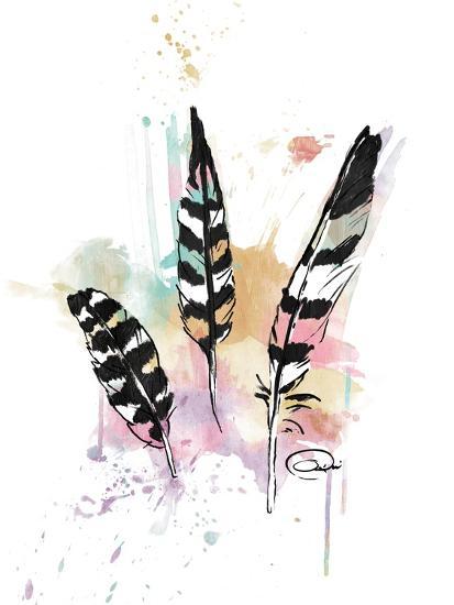 Calm Three Feathers-OnRei-Art Print