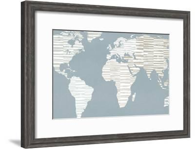Calm World Map Crop-Moira Hershey-Framed Premium Giclee Print