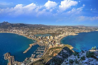 Calpe Town Coastline and Marina- Lledó-Photographic Print