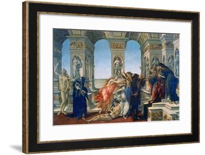 Calumny of Apelles, 1497-1498-Sandro Botticelli-Framed Giclee Print