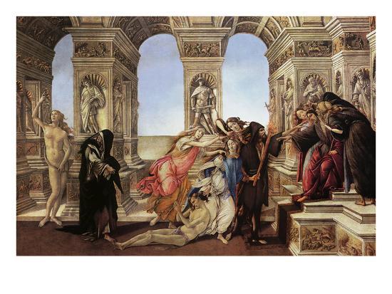 Calumny of Appeles-Sandro Botticelli-Art Print