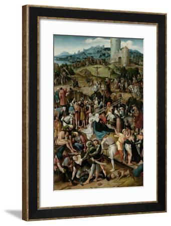Calvary-Pseudo Jan Wellens de Cock-Framed Art Print