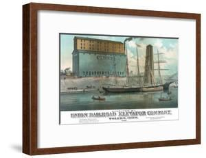Operated by Union Railroad Elevator Company by Calvert Lithograph Co