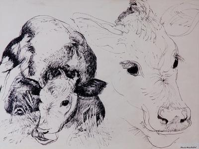 Calves, Gt Garnetts II-Brenda Brin Booker-Giclee Print