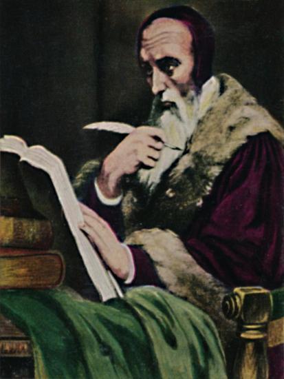 'Calvin 1509-1564. - Gemälde von Scheffer', 1934-Unknown-Giclee Print