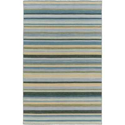 Calvin Area Rug - Teal/Moss 5' x 8'--Home Accessories
