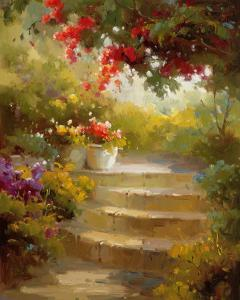 Garden Steps by Calvin Stephens