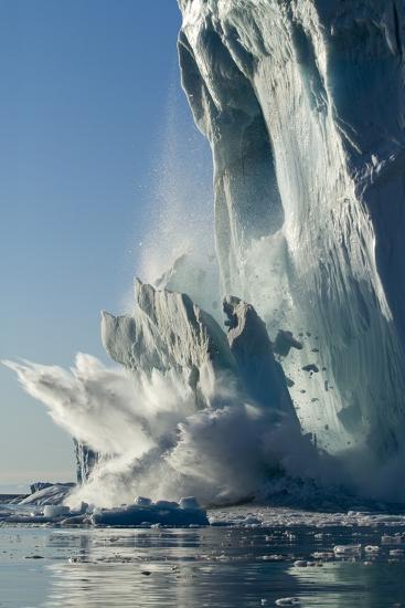 Calving Iceberg in Disko Bay in Greenland--Photographic Print