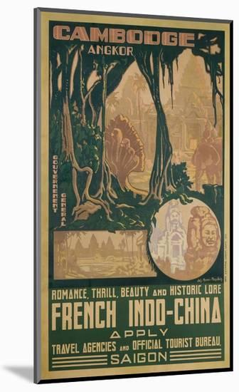 Cambodge Angkor Poster-Jos Henri Ponchin-Mounted Giclee Print