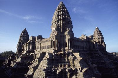 Cambodia, Detail of Angkor Archaeological Complex--Photographic Print
