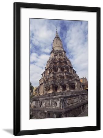 Cambodia, Phnom Penh, Silver Pagoda Stupa--Framed Giclee Print