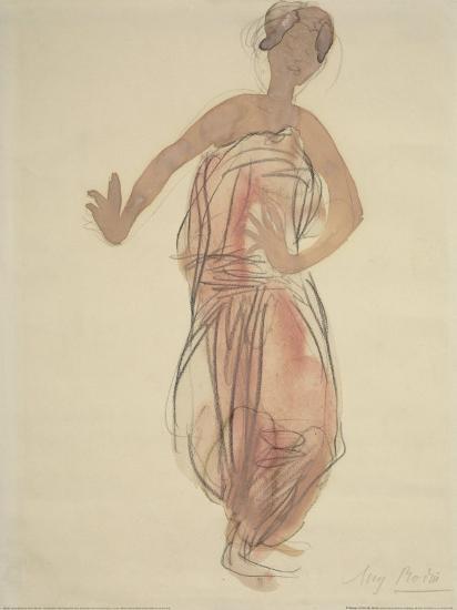 Cambodian Dancer, c.1906-Auguste Rodin-Art Print