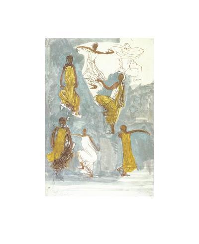 Cambodian Dancers-Auguste Rodin-Art Print