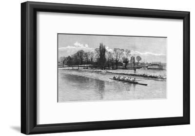 Cambridge Eight Rowing on the River Cam, 1890