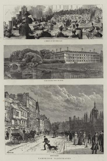 Cambridge Illustrated--Giclee Print