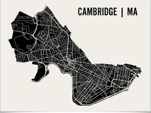 Cambridge Map Art Print