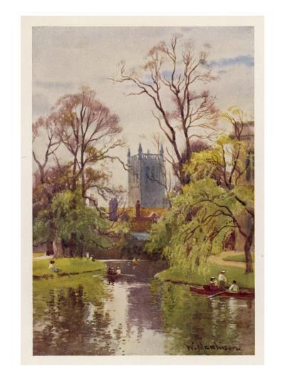 Cambridge: the Backs, with the Tower of St John's College in the Distance--Giclee Print