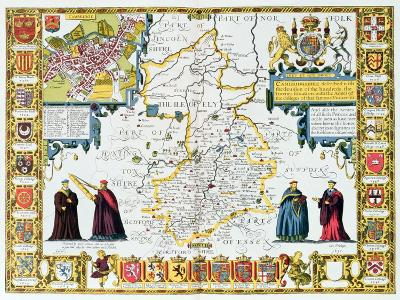 Cambridgeshire-John Speed-Giclee Print