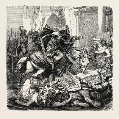 Cambyses Kills the Apis the Sacred Bull of the Egyptians--Giclee Print