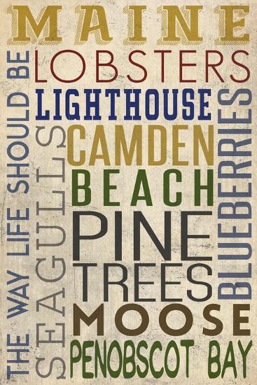 Camden, Maine-Lantern Press-Wall Mural