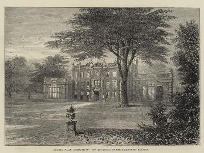 Camden Place, Chiselhurst, the Residence of the Ex-Empress Eugenie--Giclee Print