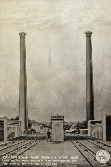Camden Town Fixed Engine Station, 1838--Giclee Print