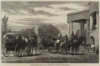 Camel-Carriage Used by the Lieutenant-Governor of the Punjaub--Giclee Print