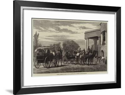 Camel-Carriage Used by the Lieutenant-Governor of the Punjaub--Framed Giclee Print