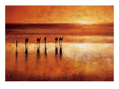 Camel Crossing-Jonathan Sanders-Art Print