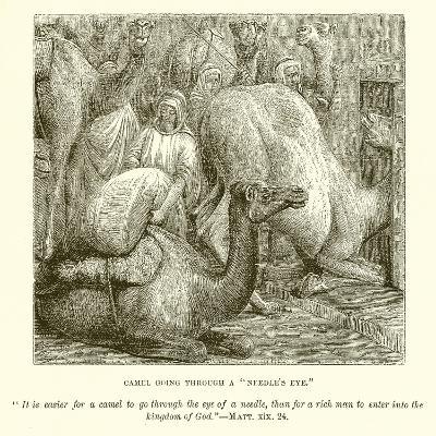 """Camel Going Through a """"Needle's Eye""""--Giclee Print"""