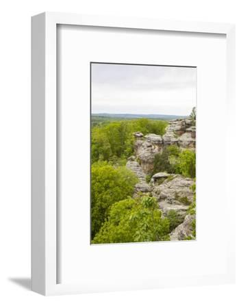 Camel Rock, Garden of the Gods Recreation Area, Shawnee National Forest, Saline County, Illinois-Richard & Susan Day-Framed Photographic Print