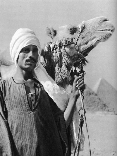 Cameldriver Near the Pyramids, Egypt, 1937-Martin Hurlimann-Giclee Print