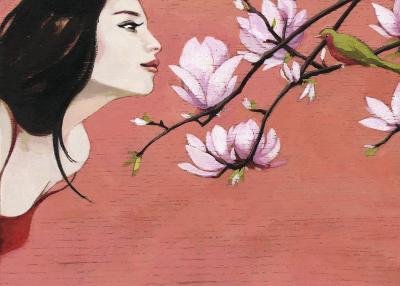 Camellia-Aline Bereau-Art Print
