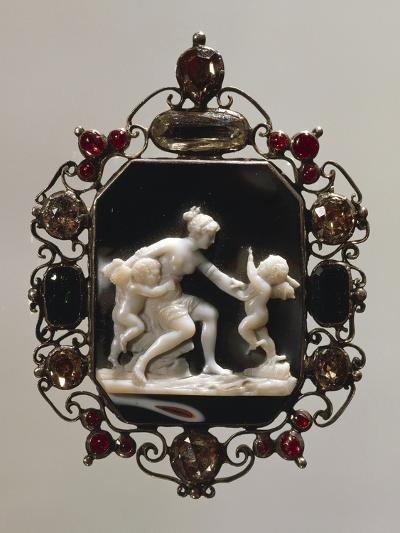 Cameo Depicting Classical Scene--Giclee Print