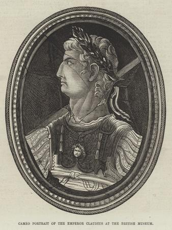 Cameo Portrait of the Emperor Claudius at the British Museum--Giclee Print