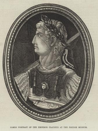 Cameo Portrait of the Emperor Claudius at the British Museum