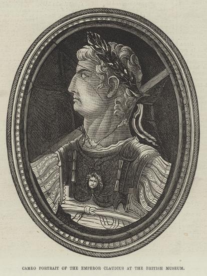 Cameo Portrait of the Emperor Claudius at the British Museum--Giclee Print