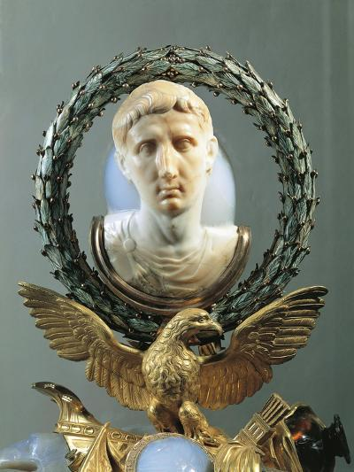 Cameo Portraying Augustus, Made of Agate, Rock Crystal, Gold, Gilt Bronze and Enamel--Giclee Print
