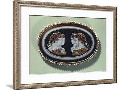 Cameo with Portraits of Septimius Severus, Julia Domna, Caracalla and Geta--Framed Giclee Print