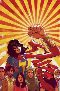 Ms. Marvel No. 8 Cover Art Featuring: Ms. Marvel (Kamala Khan) by Cameron Stewart